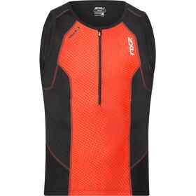 2XU Perform Débardeur de triathlon Homme, desert red print/black
